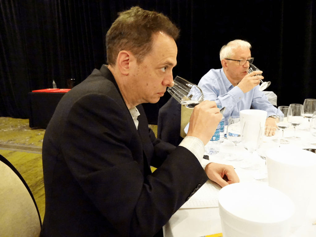 Scott Saul, Executive Vice President, MHW Ltd. judging Shochu