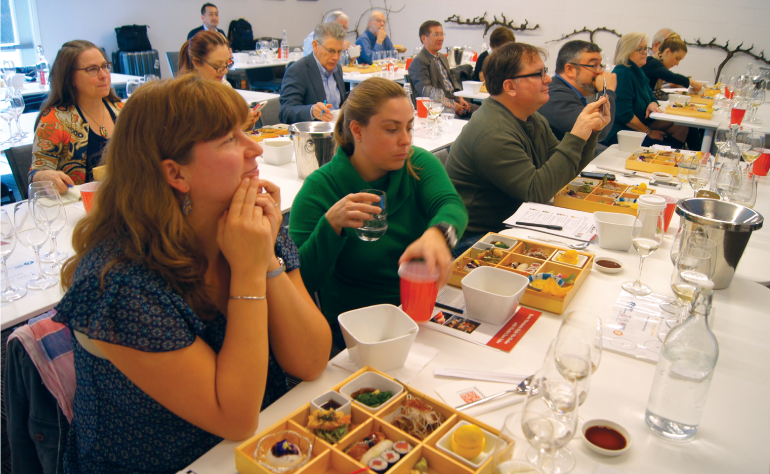Washoku B to B seminar held at Napa Valley Wine Academy attended by industry people, wine makers, wine educators, writers and wine and Sake importers.