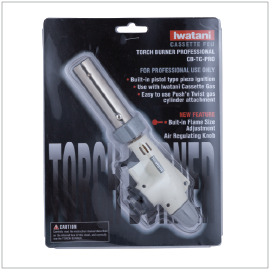 "CASSETTE GAS TORCH BURNER | Item Number: 97965 | Package: 19cm (7 1/2"") 