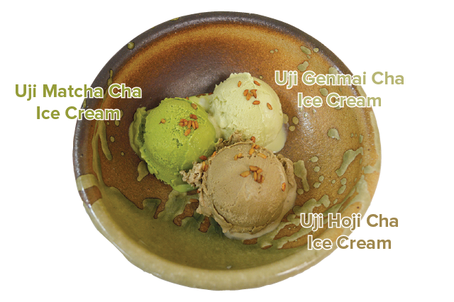 UJI MATCHA ICE CREAM [Item Number: 40587] | UJI GENMAI CHA ICE CREAM [Item Number: 40597] | UJI HOJI CHA ICE CREAM [Item Number: 40592]