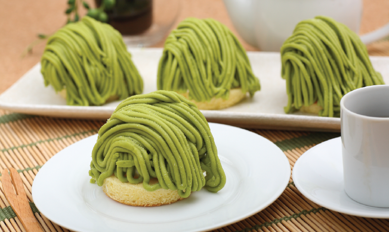 FROZEN UJI MATCHA MONT BLANC | Item Number: 70025 | Package: 18/960g (4pcs) | Origin: Japan