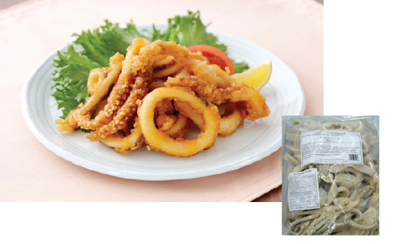 FROZEN IKA MIX KARAAGE | Item Number: 71247 | Package: 6/2.2lbs | Origin: China